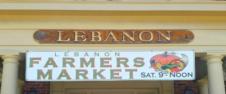 The Lebanon, Connecticut Farmers' Market is held Saturdays, June to October, 9AM to noon in front of the Lebanon Town Hall.